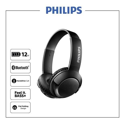 Foto Produk Philips SHB3075 BASS+ Wireless On Ear Headphone with Mic dari Philips Audio Official