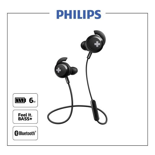 Foto Produk Philips SHB4305BK BASS+ Wireless Bluetooth Earphone Black dari Philips Audio Official