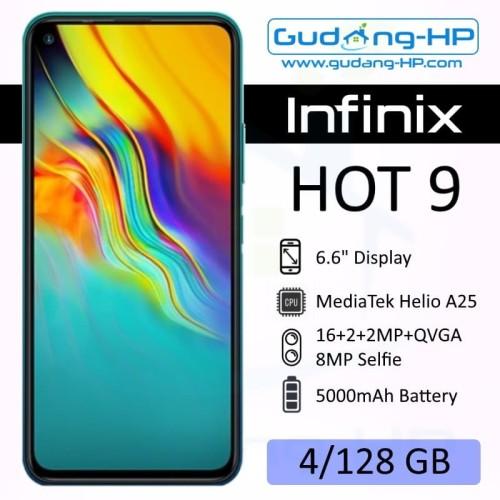 Foto Produk Infinix Hot 9 4/128 GB Garansi Resmi 1Tahun - Ungu dari Gudang-HP