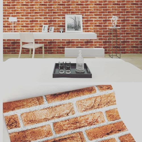 Foto Produk wallpaper stiker motif bata natural list white dari wallpaper_sip