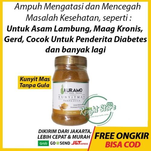 Foto Produk Kuramo Kunyit Mas Tanpa Gula Buat Asam Lambung Maag Gerd Kronis Herbal dari Keight Store