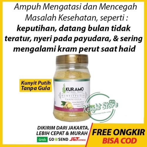 Foto Produk Kuramo Kunyit Putih Tanpa Gula Lancar Haid Kista Miom Kanker Maag Gerd dari Keight Store