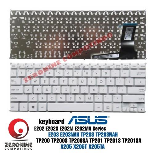 Foto Produk Keyboard ASUS E203 E203NAH TP203 TP203NAH E202 E202S E202M E202MA - Putih dari ZeroNine Computindo