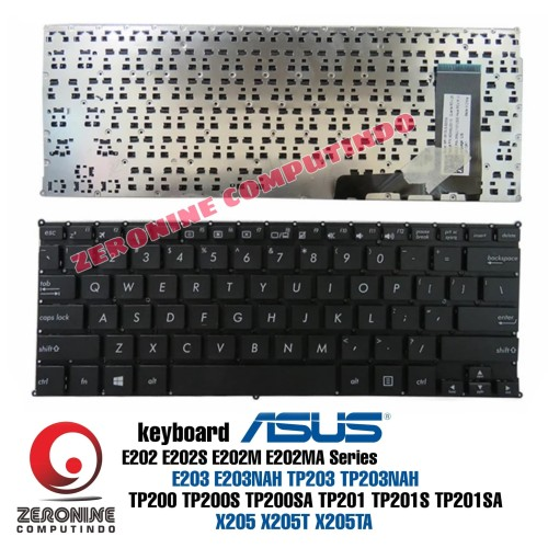 Foto Produk Keyboard ASUS E203 E203NAH TP203 TP203NAH E202 E202S E202M E202MA - Hitam dari ZeroNine Computindo