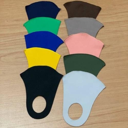 Foto Produk masker scuba tebal polos 3 warna kuning kunyit hitam biru coklat dari cikarang bekasi