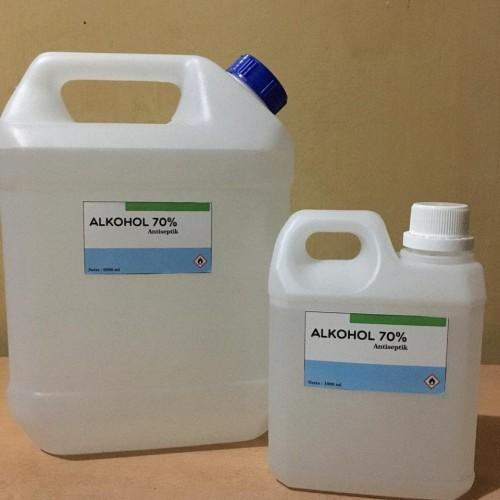 Foto Produk alkohol 70% 1 liter cocok untuk hand sanitizer dan antiseptic dari keyrashopreal