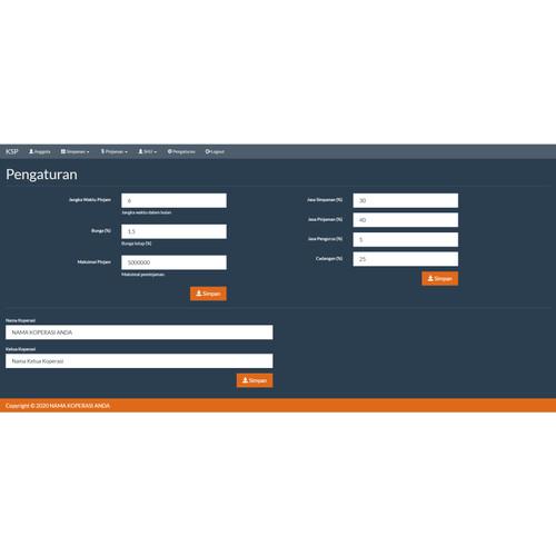 Foto Produk Source Code Koperasi Simpan Pinjam (KSP) PHP dari Rumah Source Code