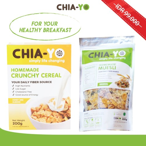 Foto Produk Chiayo Bundling Muesli 300gr + Crunchy Cereal 200gr dari Chia-Yo