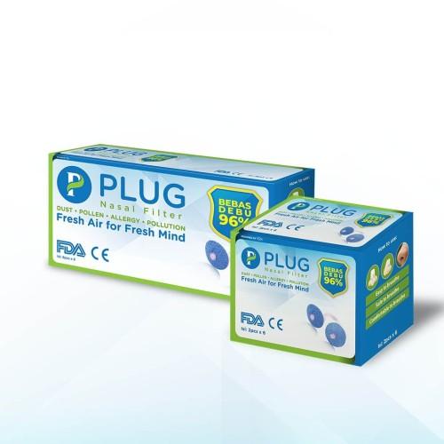 Foto Produk PLUG Nasal Filter paket B 2 box (@Isi: 6x2pcs, 6x8pcs) dari Plug Official Store