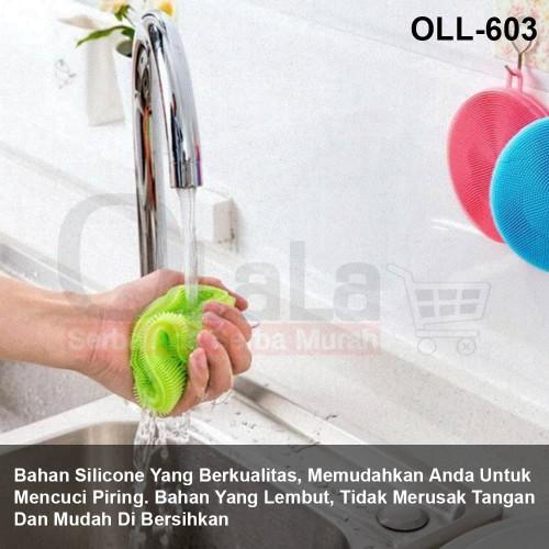 Foto Produk Spons Cuci Piring Anti Bakteri Silikon OLL-603 dari Olala_jakarta_elektronik