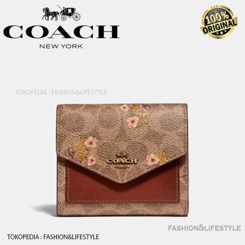 Foto Produk Coach Wallet Mini Signature Canvas With Floral Bow Print Original 100% - Brown dari Fashion&LifeStyle