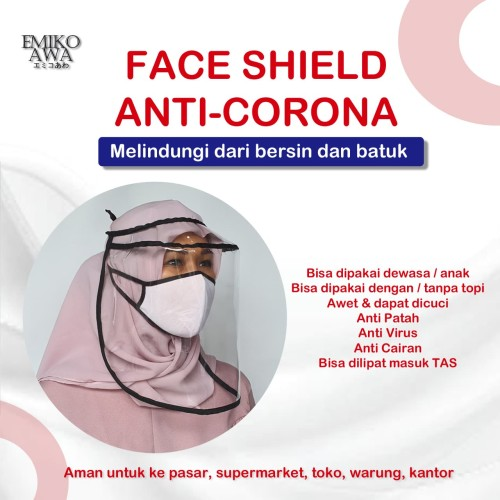 Foto Produk Pelindung Wajah & Masker - Face Shield Anti Droplet Corona Visor dari emikoawa