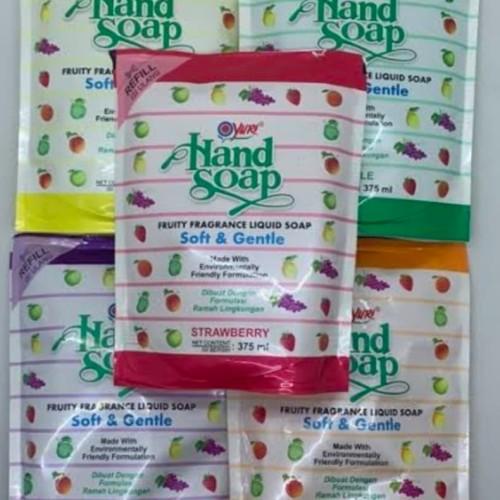 Foto Produk Yuri Handwash Aroma Buah Sabun Cuci Tangan Refill 375ml sanitizer - Orange dari Yogieyo
