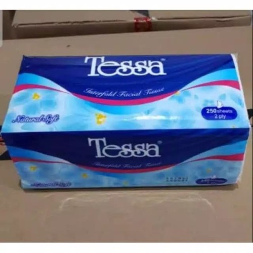 Foto Produk TISSUE TESSA 250 lembar facial tisu 2 Ply Natural Soft dari SUPLIER Yuva TanahAbanag