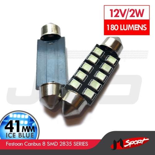 Foto Produk Lampu LED Kabin / Plafon / Festoon Canbus 8 SMD 2835 - 42mm - Ice Blue dari Jaya Motorsport