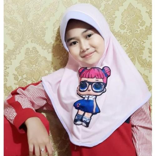Foto Produk Hijab Jilbab LOL Konde Jilbab Hijab Anak Karakter Jilbab Anak Murah - Hijau dari MpokAlice