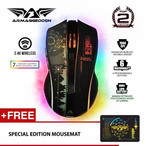 Foto Produk Mikoyan Foxbat III Wireless (2.4G) Gaming Mouse by Armageddon dari Armaggeddon Official