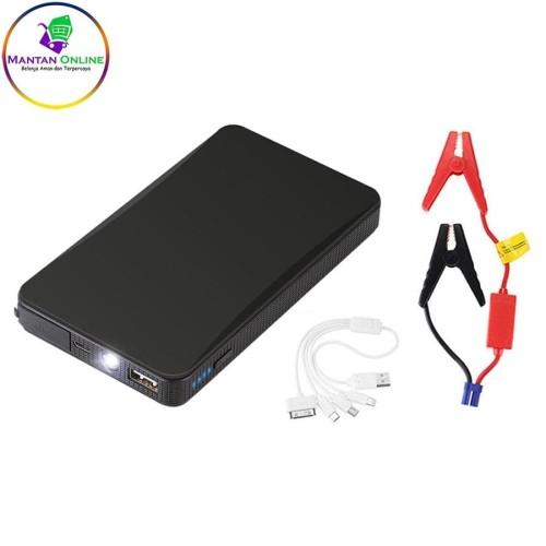 Foto Produk Jumper aki Portable mobil 20000mAh 12V/ 1 USB Power Bank senter HITAM dari Mantan Online