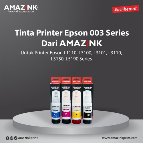 Foto Produk 1 Set Tinta Printer Epson 003 dari AMAZiNK dari AMAZiNK