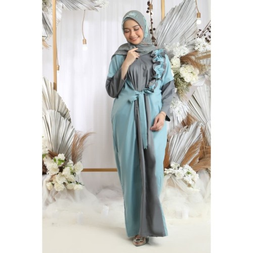 Foto Produk Namia Kaftan Dewasa Blue Raya - all size dari SimplyMiiOfficial