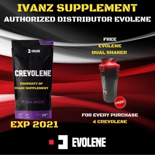 Foto Produk Crevolene Anggur Grape Creatine Evolene 330gr 330 gr gram BPOM dari IvanZ Supplement