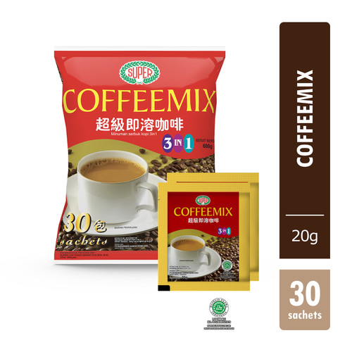 Foto Produk SUPER INSTANT COFFEEMIX 3 IN 1 30'S dari supercoffee_everyday