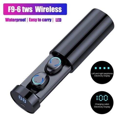 Foto Produk New Design Bluetooth TWS F9-6 Wireless Earphone With LED Display dari Onebest Choice