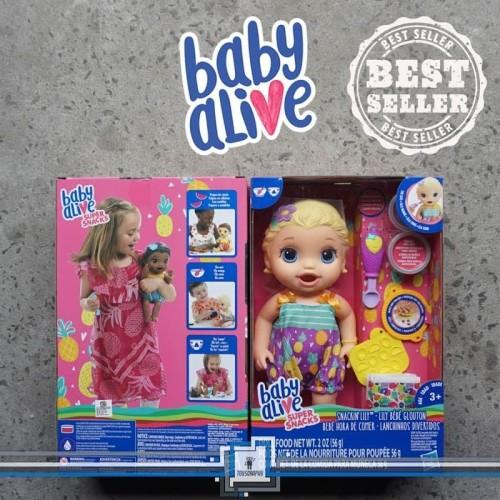 Foto Produk Baby Alive - SNACKIN LILY Bisa makan, poop / Boneka bayi / Mainan bayi dari Toysgraphy