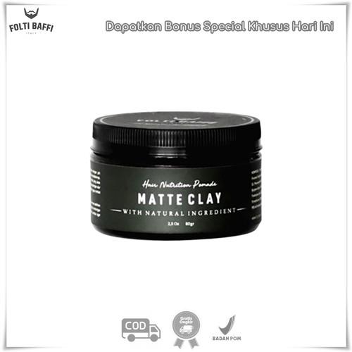 Foto Produk Folti Baffi Pomade Matte Clay Hair Nutrition Pomade Bernutrisi Terbaik dari DELASHA STORE