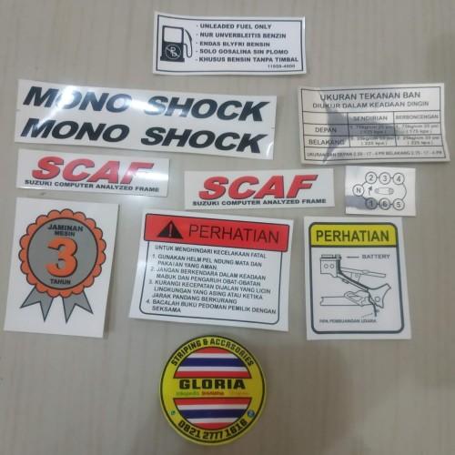 Foto Produk Stiker Set Ori Pelengkap Body Suzuki Satria Hiu 2 tak dari Gloria Striping & Acc.