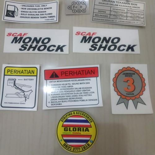 Foto Produk Stiker Set Ori Pelengkap Body Suzuki Satria Lumba 2 tak dari Gloria Striping & Acc.