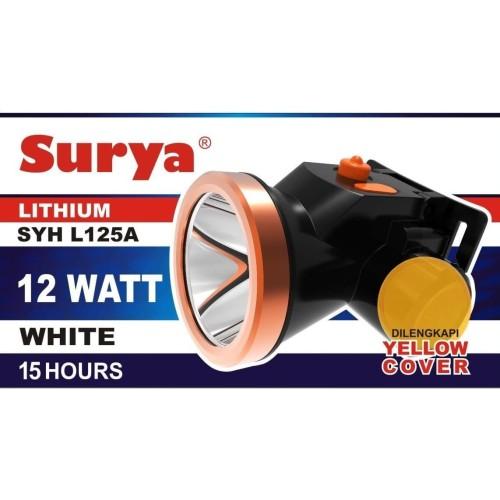 Foto Produk Senter Kepala Surya Super Led 12w 12 Watt SYH L125A Yellow Cover Cas dari Solaris Gunto Okue
