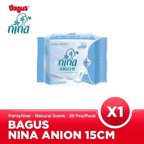 Foto Produk Bagus Nina Anion Pantyliner Natural Scent 15 cm 20's dari Bagus Official Store