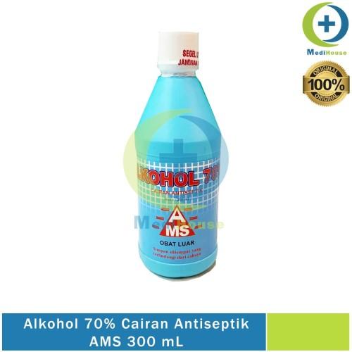 Foto Produk Alkohol 70% 300 ml Pure Cairan Antiseptik Antiseptic AMS dari medihouse