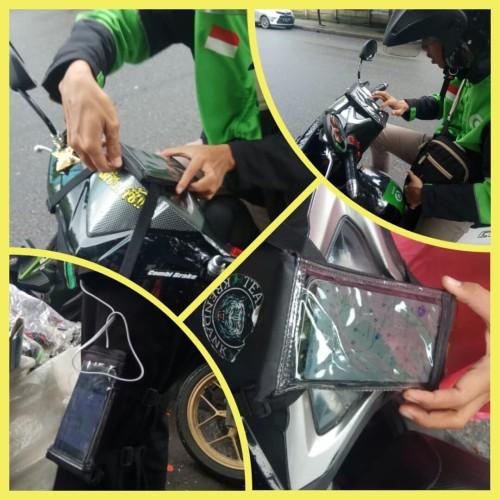 Foto Produk Sarung Hp Ojol waterproof holder tas Hp holder motor tali dari Lapaque
