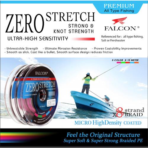 Foto Produk Senar PE X8 FALCON ZERO STRETCH BRAIDED PE - Multi PE 3.0 dari Falcon Indoesia