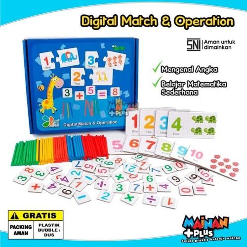 Foto Produk MAINAN EDUKASI ANGKA MATEMATIKA - DIGITAL MATCH & OPERATION - SNI dari MainanPlus