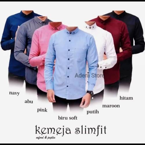 Foto Produk Kemeja pria - Kemeja Polos panjang - Kemeja Hem lengan panjang cowok dari Adera Fashion