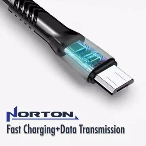 Foto Produk Norton kabel micro usb fast charging 2.4A kabel data casan android - Biru dari Ansa88