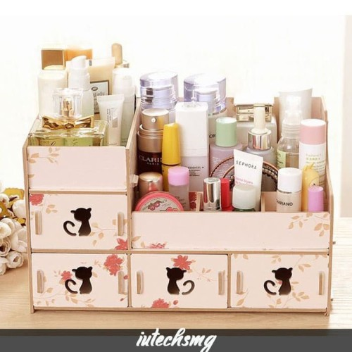 Foto Produk Kosmetik Organizer / Rak Make Up / Rak Kosmetik Kayu dari iutechsmg