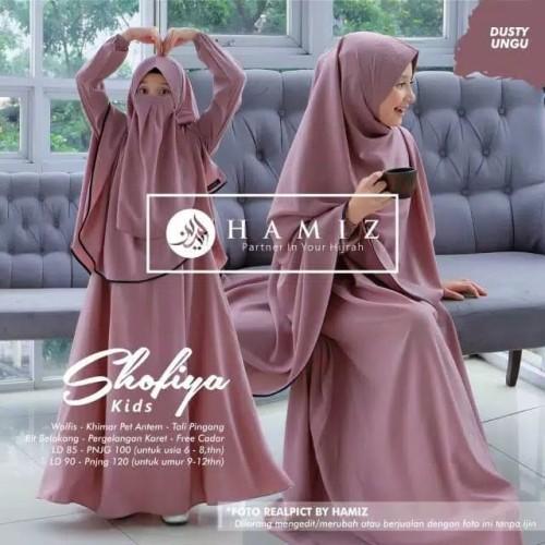 Foto Produk Baju Gamis Anak Set Hijab dan Cadar Shofiya Kids Syari ORIGINAL HAMIZ - Darwin dari ResbuFashion
