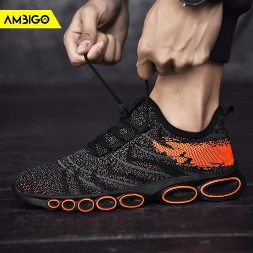 Foto Produk Sepatu Sneakers Olahraga Pria Ambigo INCUBUS Men Running Shoes - Putih, 40 dari Jagonya Case