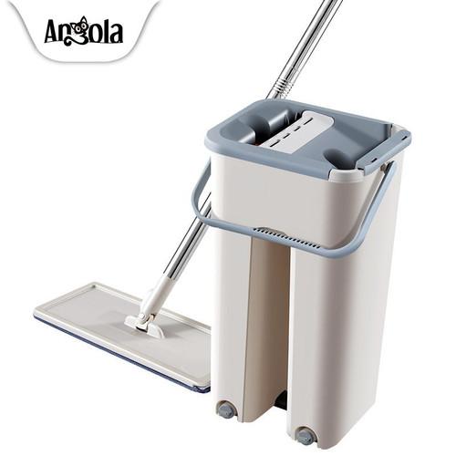 Foto Produk Angola Alat Pel Praktis D01 Mop Briny 2 Kain Alat Pembersih Lantai - Gray dari Angola Official Store