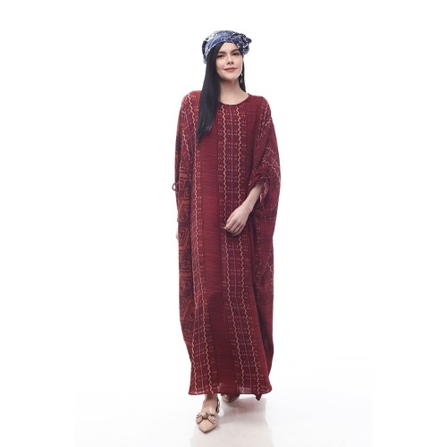 Foto Produk Sikka by Aisaa - Kaftan Lengan Serut - Maroon dari Aisaa Official