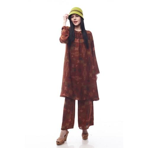 Foto Produk Mandalika by Aisaa - Setelan Celana - Teracota - M dari Aisaa Official