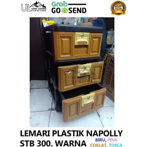 Jual Lemari Plastik Napolly 3 Susun Terbaru Gojek Grab Murah Pakaian Stb300 Jakarta Pusat Bangateng Tokopedia