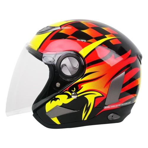 Foto Produk Helm Cargloss Former EAGLE STRIKE Helm Open Face - Orange Deep Black - L dari Helm Cargloss