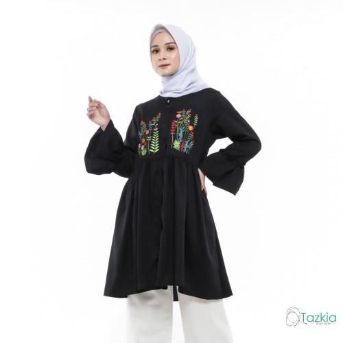 Foto Produk Atasan Muslim Wanita | Mena Tunik | Tazkia Hijab Store | Original - Hitam dari Tazkia Hijab Store