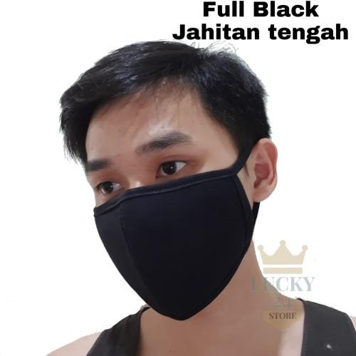 Foto Produk Masker mulut Korea warna hitam *Bisa di cuci - Black dari Toko Lucky24