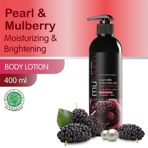 Foto Produk MuTouch Goat's Milk Body Lotion Pearl and Mulberry 400ml dari Era Official Store